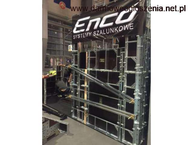 Wynajem i sprzedaż szalunków ściennych marki ENCO